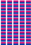 Bisexual Pride Flag Stickers - 65 per sheet